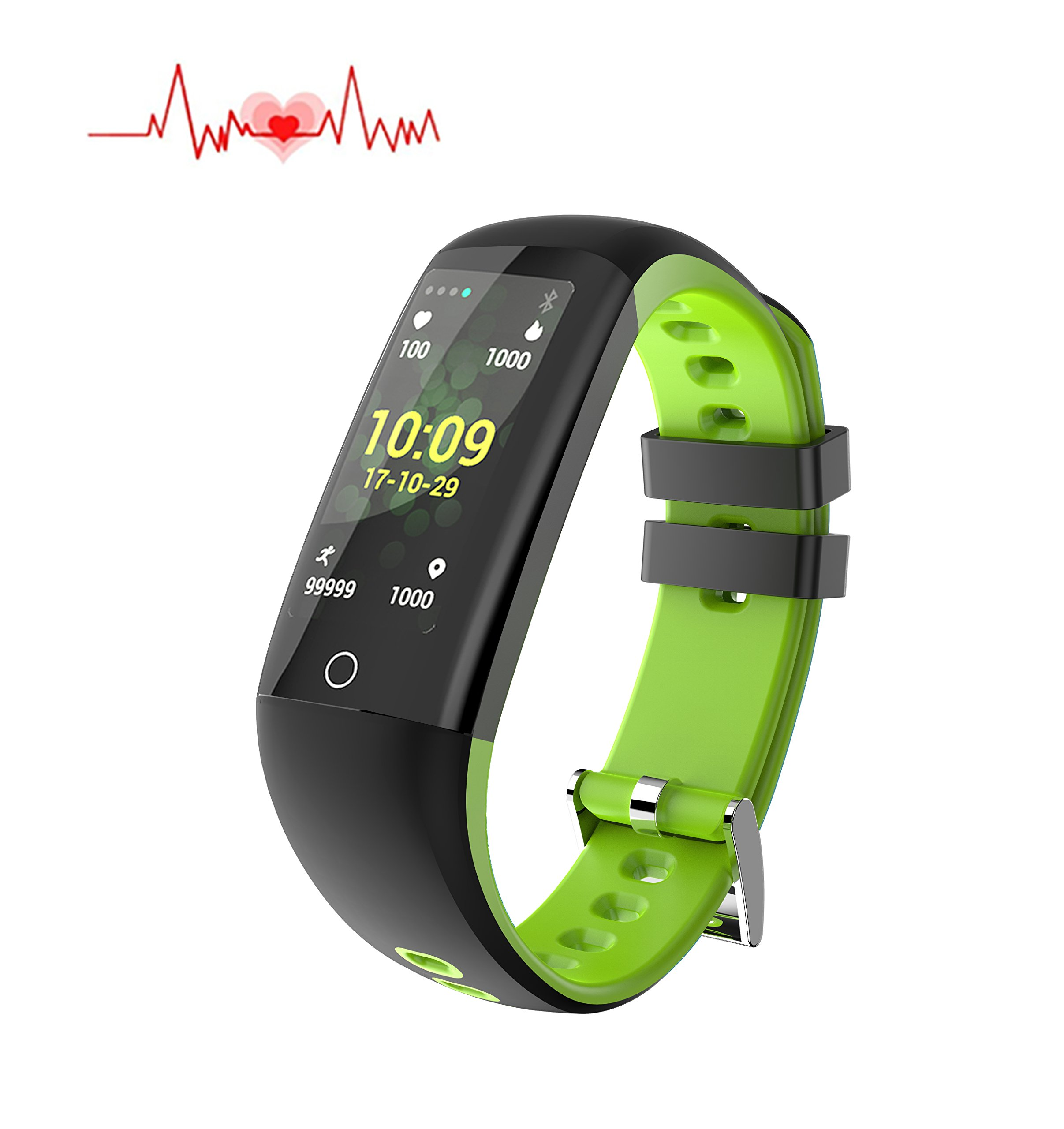 Fitness Health Tracker With Touch Screen Smart Watch Heart Rate Monitor CalorieStep Counter Blood Pressure Sleep Monitor Waterproof Activity Tracker Sport Bracelet Wristband For IOSAndroid