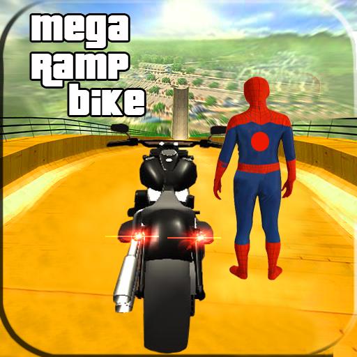 Spider Hero Impossible Mega Ramp Bike BMX Track (Bmx Bikes Games)