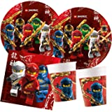 Procos- Set di Accessori per Feste Lego Ninjago, 10136166B