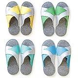 Lucky Sign - Pantofole per Ospiti 4 Paia X-Form Antiscivolo Ciabatte in Feltro di Alta qualità Unisex, Small/X-Large - Bunt