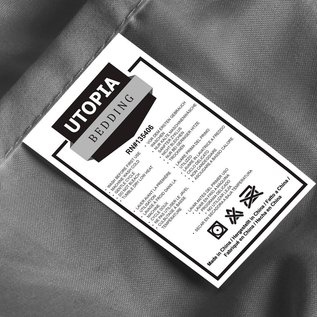 74fc7289c8 Utopia Bedding – Set Lenzuola Letto – Spazzolata Microfibra – (Grigio, Una  Piazza e Mezza). Ritorna alla pagina precedente. et-loader