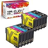 ejet 16xl Compatibile per Epson 16XL Cartucce d'inchiostro per WF2630 WF2510 WF2760 WF2530 WF2520 WF2540 WF2750 WF2660 WF2650