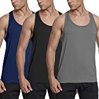 MeetHoo Men's Tank Top, Gym Vest Sleeveless T Shirt Muscle Tee Quick-Dry Sweatproof Tops for Running Fitness Workout