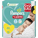 Pampers New Diaper Pants, New Born, 10 Count