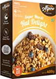 Alpino Super Muesli Nut Delight 400 G | 100% Whole Oats & Whole Grain | Finest Nuts & Raisins | Real Freeze-Dried Fruits…