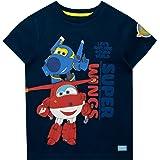 Super Wings Camiseta de Manga Corta para niños Jett y Jerome