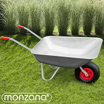 Wheelbarrow Galvanized 80 Litre Heavy Duty Pneumatic DIY 130Kg Garden Wheel  Barrow: Amazon.co.uk: Business, Industry U0026 Science