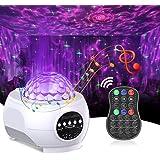 Cocoda Proyector Estrellas con LED Nebulosa, 3 en 1 Luz Nocturna Altavoz Bluetooth Incorporado con Control Remoto, Proyector