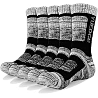 YUEDGE Men's 5 Pairs Athletic Socks Breathable Cushion Comfortable Casual Crew Socks Performance Multi Wicking Workout…