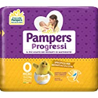 Pampers Progressi Pannolini Micro, Taglia 0 (1-2.5 kg), 24 Pezzi
