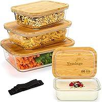 Récipient en Verre boîtes Alimentaires pour Conservation Lot de 8 Pièces (4 récipients + 4 couvercles) Boîtes en Verre…