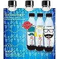 SodaStream Herbruikbare Fuse Flessen - 3-Pack van 1 Liter Flessen - Kunstof Flessen met Leuke printen - Duurzaam Design - BPA