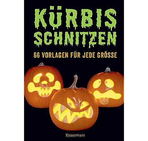 Halloween Kurbis Auf Englisch.Halloween Kurbis Schnitzen Schablonen Vorlagen Englisch Amazon De Bucher