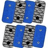 TENSPAD SILVER 8 elektroden met zilver patroon voor Compex, 50 x 100 mm met 2 SNAP-aansluitingen.