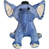 Soft Buddies Elephant Car Rear Tray Table Toy, Blue (7-inch)