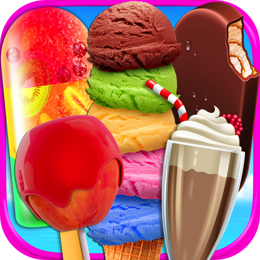 Beach Food Maker - Frozen Ice Cream Bars, Popsicles, Snow Cones, Candy Apples, Milkshakes, & Ice Cream Truck Games FREE (Snow Cone Maker Free)