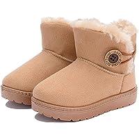 Enfant Hiver Bottes de Neige bottines pour Bébé fille Premiers Pas Chaud Fourrure Chaussures Imperméable Souple Bottines…