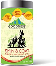 Goodness Skin & Coat Super Supplement for Dogs & Cats with Seaweed & Parsley Sprinkles - 100 g