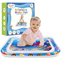 Teenie Totz Inflatable Tummy Time Water Mat - Premium Baby Water Play Mat for Infants Fun Play Activity Centre for…