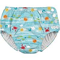 i play. by green sprouts Baby Swim Diaper, Light Aqua Sea Friends, 4T