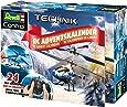 Revell Control 01020 RC Adventskalender Hubschrauber, ferngesteuerter RC Helikopter für Einsteiger zum Selberbauen, GHz Fernsteuerung, LED-Beleuchtung, USB-Ladegerät, Gyro, Batterien enthalten