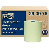 Tork Matic Essuie-mains Rouleaux en papier vert Advanced 290076 - Papier d'essuyage pour Distributeurs H1 - Absorbant et…