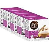 Nescafé Dolce Gusto Chai Tea Latte, Lot de 4, 4 x 16 Capsules (32 Portions)