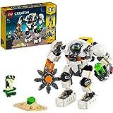 LEGO Creator 3 in 1 Mech per Estrazioni Spaziali, Robot Spaziale e Vettore Cargo, Set di Costruzioni con Alieno, 31115