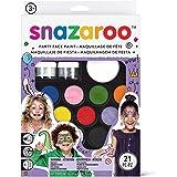 Snazaroo Ultimate Party Set, make-uppalet met 2 penselen Originele verpakking. Set: Ultimatives Party Set Kinderschminke Part