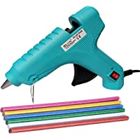 GLUN 40W Hot Melt Glue Gun with on/off Switch and LED Indicator (Blue) - 8 Sticks