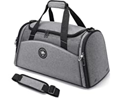 FitBeast Sports Gym Bag Duffel Bag with Shoes Compartment & Wet Pocket, Travel Duffel Bag with 9 Compartments for Men & Women