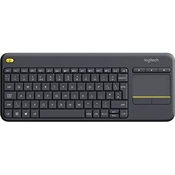 Logitech Wireless Touch K400 Plus Tastatur (QWERTY,  Englisch UK)schwarz