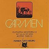 Juego de cuerdas para guitarra acústica 12 cuerdas Gato Negro Carmen