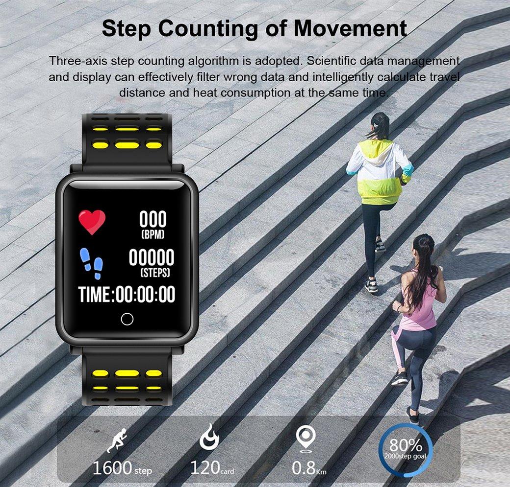 TagoBee TB06 IP68 a Prueba de Agua Smart Watch HD Touch Screen Fitness Tracker Soporte de presión Arterial frecuencia… 2