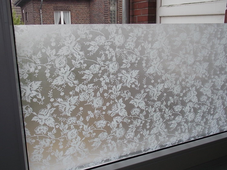 Amazon Milchglas Folie Fenster folie Flower Blume 90cm Breit 7