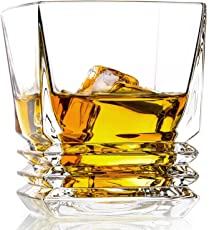 Prime Timeless European Design Whisky Glass Set of 6 Pc | 10 oz old fashioned Whiskey Glass Set of 6 Pc | Unique Design | Perfect For Scotch | Bourbon | Irish Whisky | Brandy | Gift Box Packing | 300 ml