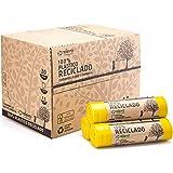 Relevo sacs poubelle jaune 100% recyclés, très résistant 30L, 360 pièces lot de 24 rouleaux