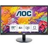 AOC E2270SWDN - 22 Inch FHD Monitor, 60Hz, TN, 5ms, Vesa 100 x 100, Tilt, Multimedia monitor (1920 x 1080 @ 60Hz, TN…