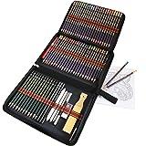 Crayon de Couleur Aquarellable kit de Dessin Pro-72 Crayons Aquarellables de Dessin Crayons Croquis Kit de Croquis Dessin ave
