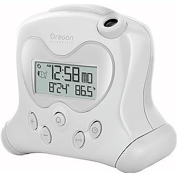 Oregon Scientific RM313PN - Réveil avec Projection de l'Heure et Température Intérieure (Blanc)