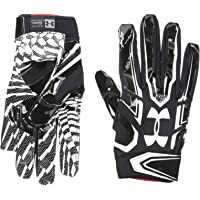Under Armour Men's F5 Football Gloves, Black/White, X-Large