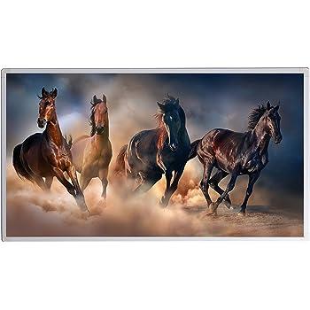 450 Watt, W/üsten Pferde 5 Jahre Garantie GS T/ÜV S/üd zertifiziert Infrarotheizung mit Digitalthermostat Elektroheizung Bildheizung mit Stecker f/ür Steckdose Heizprinzip der Sonne doppelte Sicherung neuste Technik