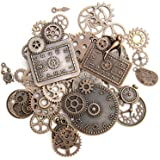KIMI-HOSI 40 Pièces Vintage Steampunk Engrenages Metal Gears Horloge Montre Roues Pendentif Charms Gears Bijoux de Bricolage