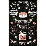 Avery Zweckform 18 adesivi decorativi Happy Birthday (adesivi, compleanni, regali, biglietti, auguri, festa) Art. 57079