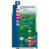Staedtler (2360) – 12 mm tjocka färgade tavelkritor – paket med 12 olika färger