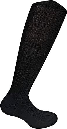 Lucchetti Socks Milano 6 PAIA calze lunghe uomo di LANA a costine MADE IN ITALY
