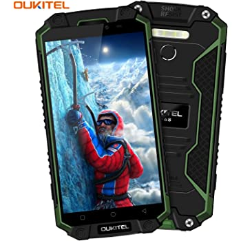 Oukitel K10000 Max 5.5 Pouces Téléphone Android 7.0 IP68 Smartphone Solide Outdoor Téléphone Débloqué 4G 10000mAh Grande Capacité Téléphone Étanche/Antichoc/Anti-poussière MTK6753 Octa Core 3Go RAM 32Go ROM Double SIM-Vert