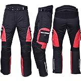 NORMAN Motorbike Motorcycle Waterproof Cordura Textile Trousers Pants Armours Black//Red