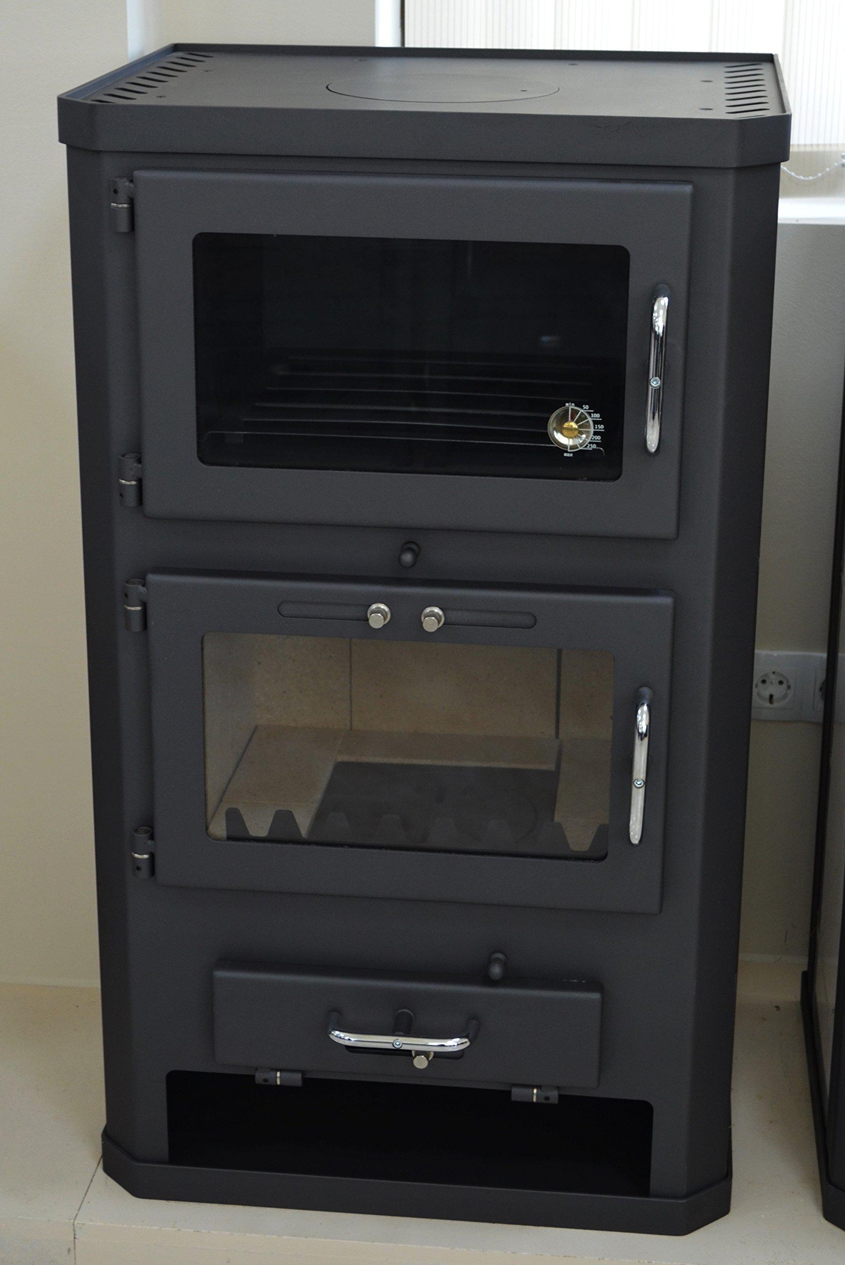 81cGhwX7OUL - Estufa de leña para estufa, estufa, cocina, combustible, quemador de leña, 12/17 kW, BImSchV 2
