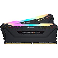 Corsair Vengeance RGB PRO 16GB (2x8GB) DDR4 3200MHz C16 XMP 2.0 Enthusiast RGB LED-Beleuchtung Speicherkit - schwarz